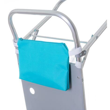 """main image of """"Carro portasillas plegable nuevo y mejorado de aluminio azul de 105x37x52 cm"""""""