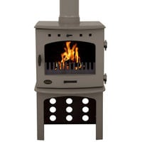 Carron Antique Enamel 7.3kW Multifuel DEFRA Approved Stove With Log Store