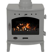 Carron Ash Grey Enamel 4.7kW Multifuel DEFRA Approved Stove