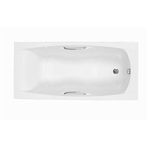 Carron - Carronite Imperial 1400x700mm Twin Grip Bath - White