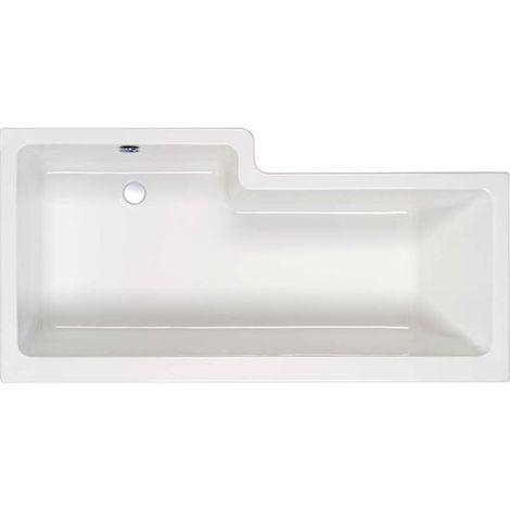 Carron - Carronite RH 1600mm Quantum Shower Bath - White