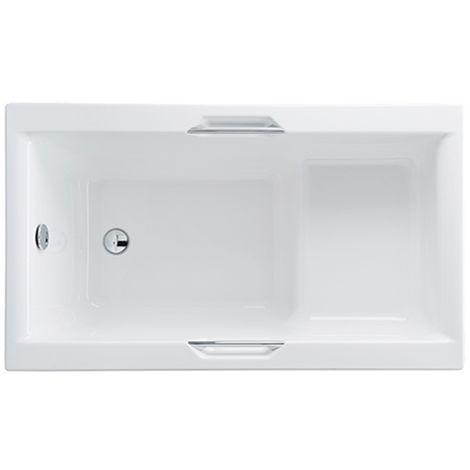 Carron - Carronite Urban Sit Bath 1250x725mm & Integra Grips - White