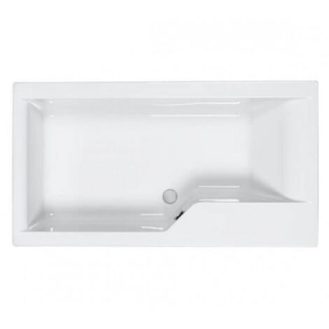 Carron - Carronite Urban Swing 1575x850mm LH Shower Bath - White
