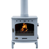 Carron China Blue Enamel 7.3kW Multifuel DEFRA Approved Stove