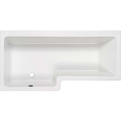 Carron - LH 1600mm Quantum Shower Bath 5mm Carron - White