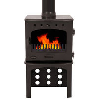 Carron Pebble Enamel 7.3kW Multifuel DEFRA Approved Stove With Log Store
