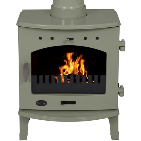 Carron Sage Green 4.7kW Multifuel DEFRA Approved Stove
