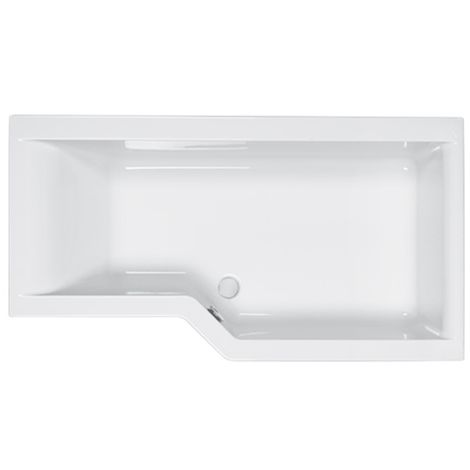 Carron - Urban Edge 1575 x 850mm RH Shower Bath 5mm - White