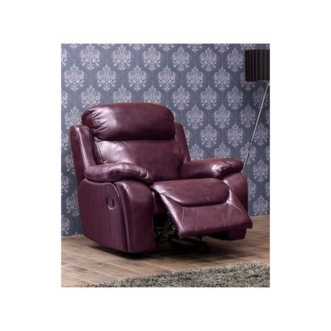 Carson Reclining Leather Armchair Wine