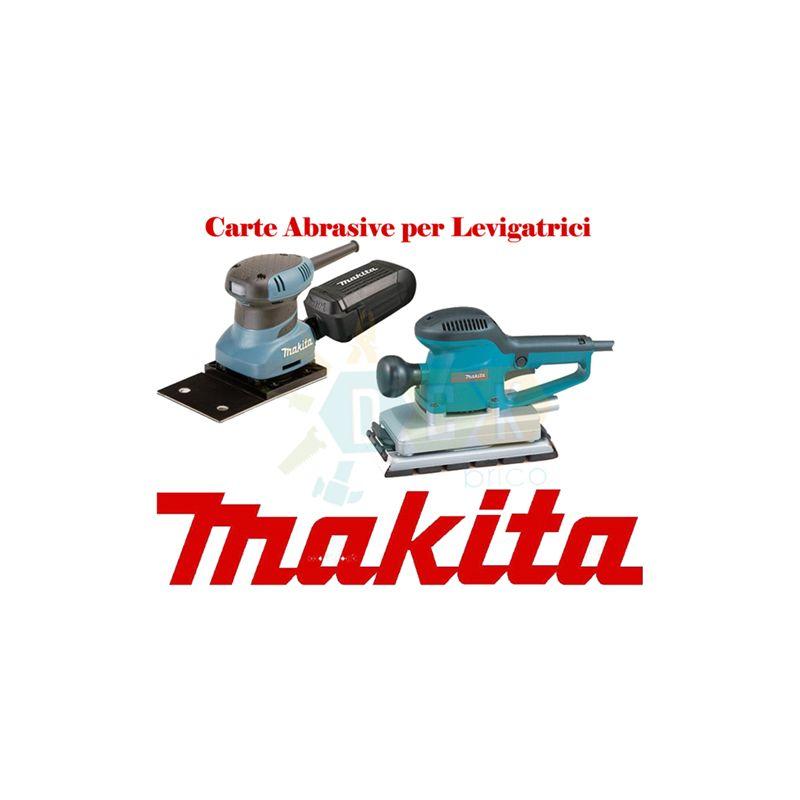 CARTA ABRASIVA per Levigatrice Orbitale MAKITA BO3711 Grana 100 93X228 mm 10 pz