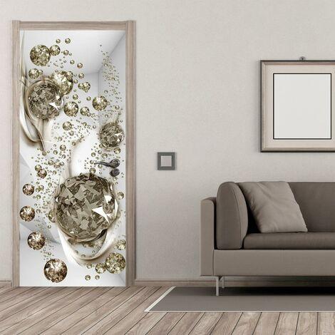 Carta Da Parati Fotomurale Per Porta - Bubble Abstraction I 90x210cm Erroi
