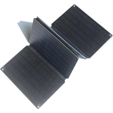 Carte de charge solaire en silicium polycristallin 40W 5V 12V 40W * sac pliant ETFE ETFE double sortie rapide USB