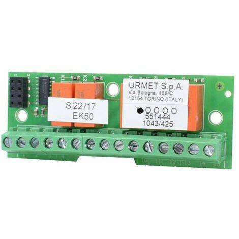 Carte en option Urmet 4 sorties à se différencier de l'alarme de signalisation à partir de chacun des