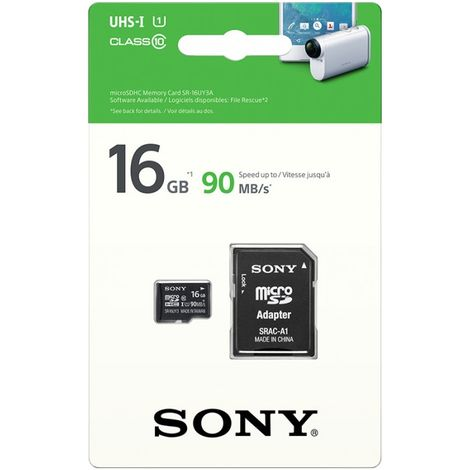 Carte SD//Micro SD 16GB SONY