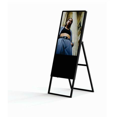 Cartel digital publicitario LCD plegable Full HD 43 pulgadas