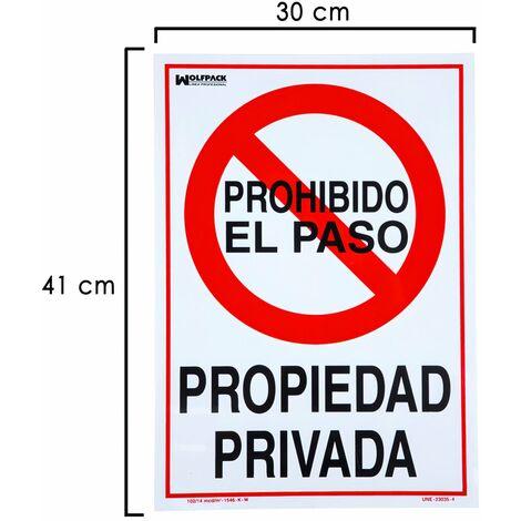 """main image of """"Cartel propiedad privada 41x30 cm."""""""
