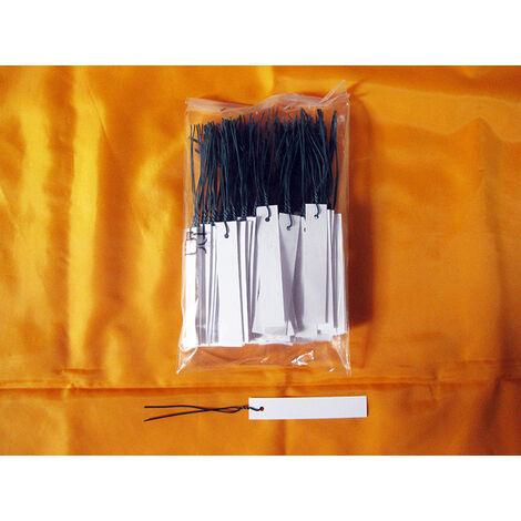 Cartellini, etichette in PVC con filo 100x18x0,04 mm (F10) (100 pezzi)