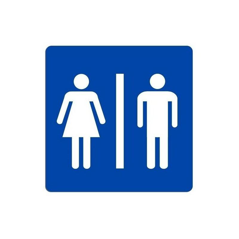 Cartello Uomo Donna Segnaletica Wc Toilette Bagno Targa Adesiva