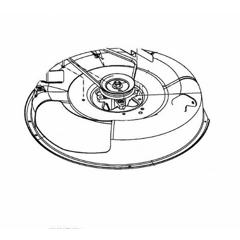 Carter de coupe tracteur tondeuse MasterCut / MTD 60 cm