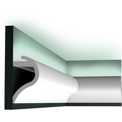 carton complet de 14 mètres C364 Corniche Eclairage Indirect Orac Decor Luxxus - 14x8cm (h x p) - Conditionnement : Carton complet