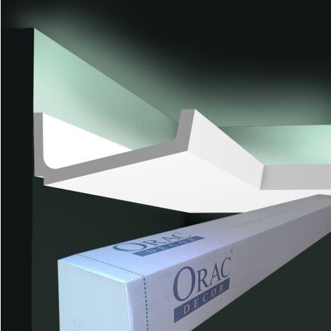carton complet de 16 mètres C352 Corniche Eclairage Indirect Orac Decor Luxxus 7,5x17cm (h x p) - Conditionnement : Carton complet