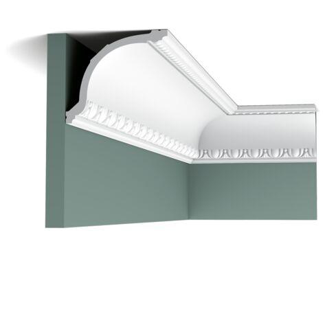 Carton complet de 18 mètres C216 Corniche plafond Orac Decor - 11,5x13,5x200cm (h x p x L) - moulure décorative polyuréthane - rigide ou flexible : rigide - conditionnement : Carton complet