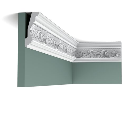Carton complet de 20 mètres C201 Corniche plafond Orac Decor - 11,5x5x200cm (h x p x L) - moulure décorative polyuréthane - rigide ou flexible : rigide - conditionnement : Carton complet