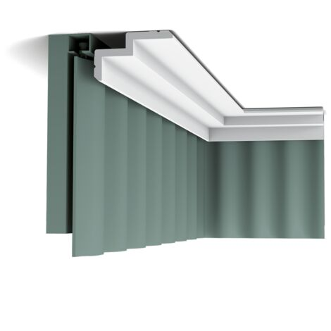 Carton complet de 20 mètres C390 STEPS Corniche plafond pour éclairage indirect et cache tringle à rideaux Orac Decor - 6x10x200cm (h x p x L) - moulure décorative polyuréthane - Conditionnement : Carton complet