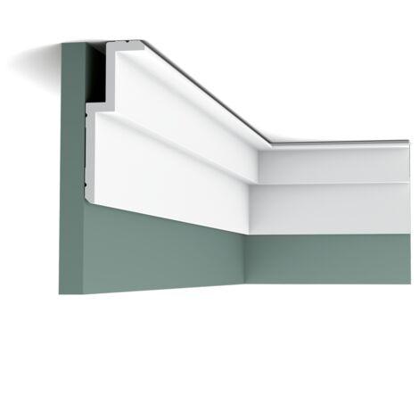 Carton complet de 20 mètres C391 Corniche pour éclairage indirect et cache tringle à rideau - 6x16x200cm (h x p x L) - moulure décorative polyuréthane - Conditionnement : Carton complet