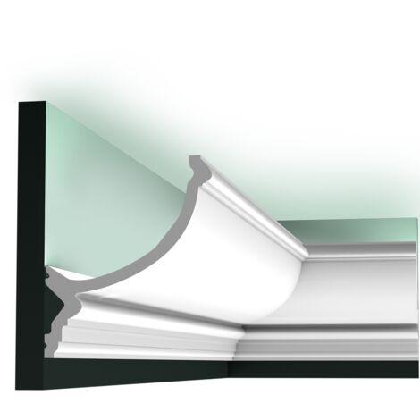 Carton complet de 20 mètres C900 Corniche plafond pour éclairage indirect Orac Decor - 17x14,5x200cm (h x p x L) - moulure décorative polyuréthane - Conditionnement : Carton complet