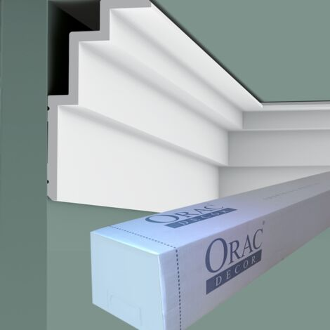 carton complet de 20 mètres de C392 Corniche Plafond Orac Decor - Luxxus - 19x10x200cm (h x p x L) - Conditionnement : Carton complet