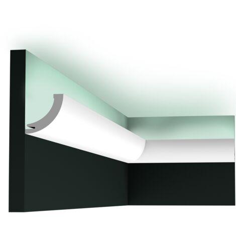 Carton complet de 24 mètres C362 Corniche plafond pour éclairage indirect Orac Decor - 5x5x200cm (h x p x L) - moulure décorative polyuréthane - Conditionnement : Carton complet