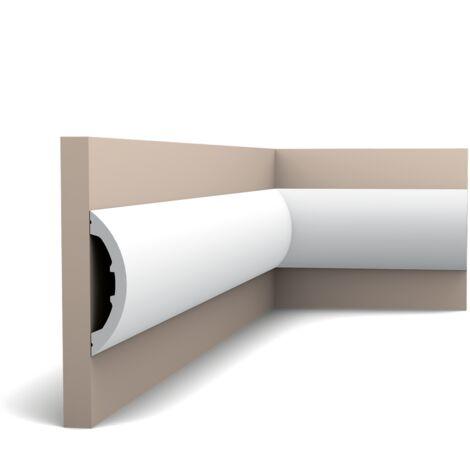 Carton complet de 24 mètres P3070 Cimaise murale Orac Decor - 12,5x3x200cm (h x p x L) - moulure décorative polyuréthane - Conditionnement : Carton complet