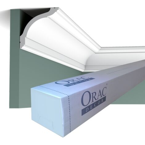 Carton complet de 28 mètres CX127 Corniches plafond Orac Decor - 9,5x9,5cm (h x p) - rigideouflexible : rigide - conditionnement : Carton complet