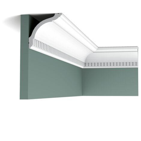 Carton complet de 28 mètres de CX129 orniche plafond Orac Decor - 9,5x9,5x200cm (h x p x L) - moulure décorative polymère - Conditionnement : Carton complet
