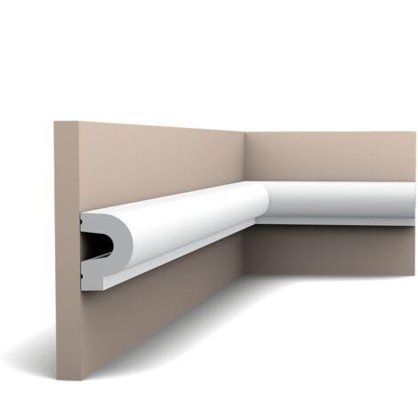 Carton complet de 28 mètres P8060 Cimaise murale Orac Decor - 3,5x5x200cm (h x p x L) - moulure décorative polyuréthane - rigide ou flexible : rigide - conditionnement : Carton complet