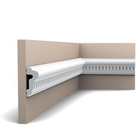 Carton complet de 36 mètres P6020 Cimaise murale Orac Decor - 6,5x3x200cm (h x p x L) - moulure décorative polyuréthane - rigide ou flexible : rigide - conditionnement : Carton complet