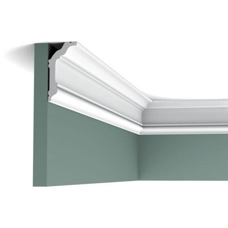 Carton complet de 48 mètres CX176 Corniche plafond Orac Decor - 4x8x200cm (h x p x L) - moulure décorative polymère - rigide ou flexible : rigide - conditionnement : Carton complet