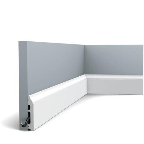 Carton complet de 54m SX172 Plinthe Orac Decor - 8,5x1,4x200cm (h x p x L) - plinthe déco polymère - rigide ou flexible : rigide - conditionnement : Carton complet