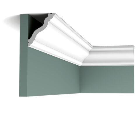Carton complet de 56 mètres CX177 Corniche plafond Orac Decor - 7x6x200cm (h x p x L) - moulure décorative polymère - Conditionnement : Carton complet