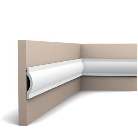 Carton complet de 56 mètres P9901 Cimaise murale Orac Decor - 5x2,5x200cm (h x p x L) - moulure décorative polyuréthane - rigide ou flexible : rigide - conditionnement : Carton complet