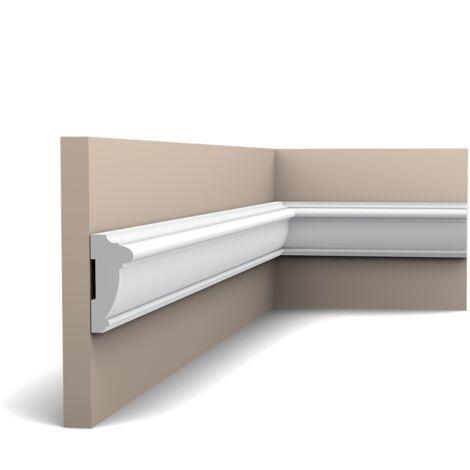 Carton complet de 60m PX113 Cimaise murale Orac Decor - 6x2,5x200cm (h x p x L) - polymère - Conditionnement : Carton complet