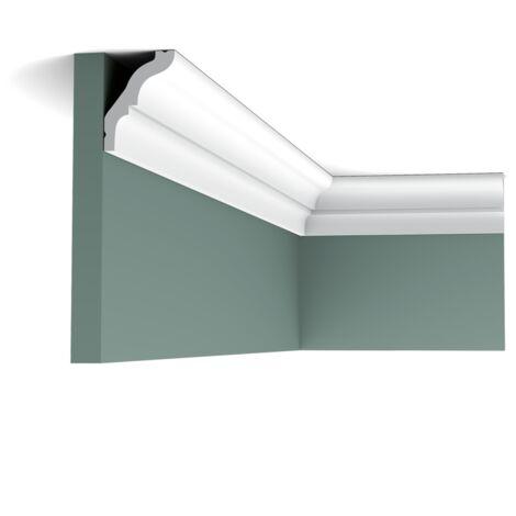 Carton complet de 72 mètres CX112 Corniche plafond Orac Decor - 5,5x4x200cm (h x p x L) - moulure décorative polymère - Conditionnement : Carton complet