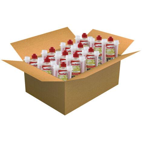 Carton de 12 cartouches scellement chimique - Ton pierre 300ml - Fischer 520104