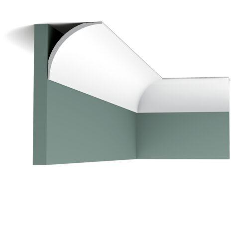 Carton de 16 mètres CX126 Corniche Plafond Orac Decor - 9x9x200cm (h x p x L) - moulure décorative polymère - Conditionnement : Carton 8 pièces
