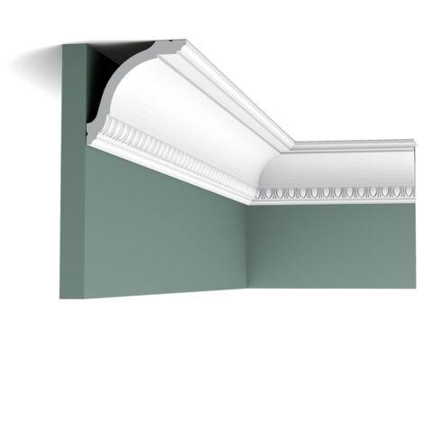 Carton de 16 mètres CX128 Corniche Plafond Orac Decor - 9,5x9,5x200cm (h x p x L) - moulure décorative polymère - Conditionnement : Carton 8 pièces