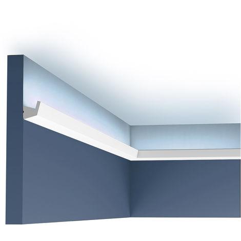 Carton de 16 mètres CX189 Corniche pour éclairage indirect Orac Decor - 2,7x2,7x200cm (h x p x L) - moulure décorative polymère - Conditionnement : Carton 8 pièces -