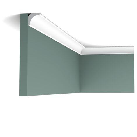 Carton de 16 mètres de CX133 Corniche plafond Orac Decor - 2x2x200cm (h x p x L) - moulure décorative polymère - Conditionnement : Carton 8 pièces