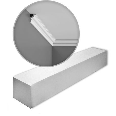 Carton de 16 mètres de CX148 Corniche plafond Orac Decor - 4,5x3x200cm (h x p x L) - moulure décorative polymère - rigide ou flexible : rigide - conditionnement : Carton 8 pièces