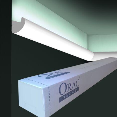 carton de 16 mètres de CX188 Corniche éclairage indirect LED Orac Decor - 3,4x3,4x200cm (h x p x l) - conditionnement : Carton 8 pièces - rigideouflexible : rigide